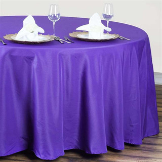 Polyester Round Tablecloth Purple