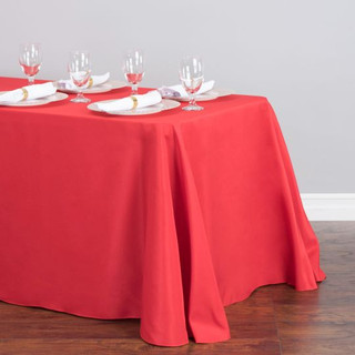 Polyester Rectangle Tablecloth Red