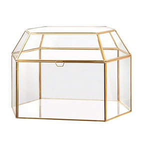 Geometric Glass Card Box Gold