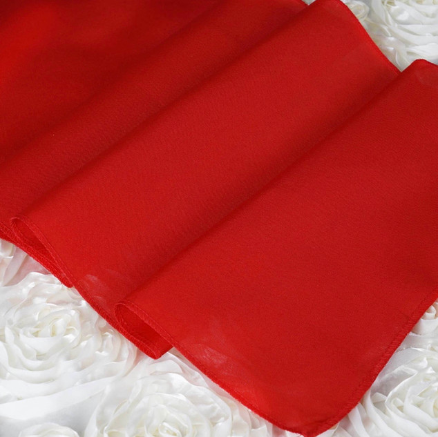 Polyester  Table Runner  Red