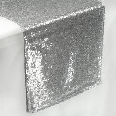 Sequin Table Runner  Silver