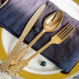 Disposable Baroque Cutlery 72pk Gold
