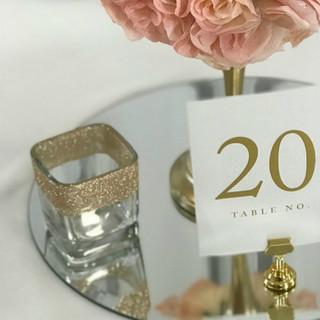 Sparkle Square Glass Votive Holder Rose Gold