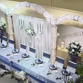 """Wrought Iron Arch - 20' x 9'6"""" Backdrop"""
