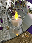Clear Oyster Glass Tealight Holder