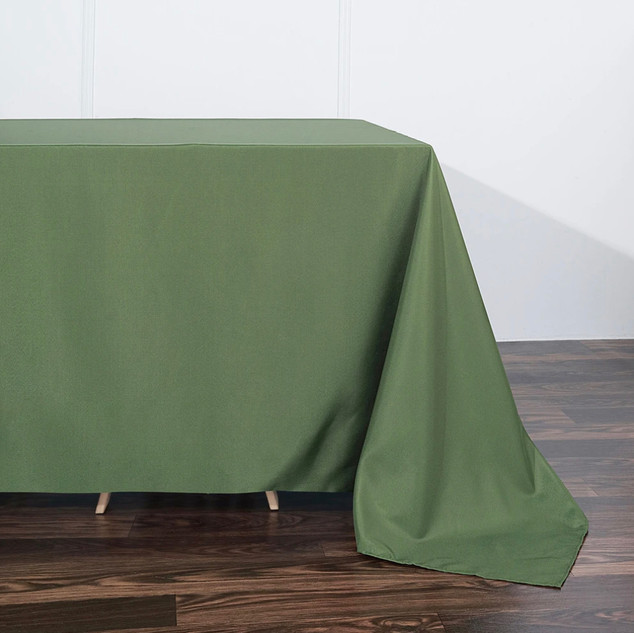 Polyester Rectangle Tablecloth Willow Green
