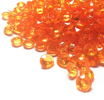 Bulk Acrylic Diamonds Orange
