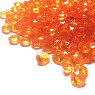 Bulk Acrylic Diamonds Orange