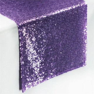 Sequin Table Runner  Purple