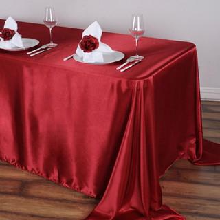 Satin Rectangle Tablecloth Wine