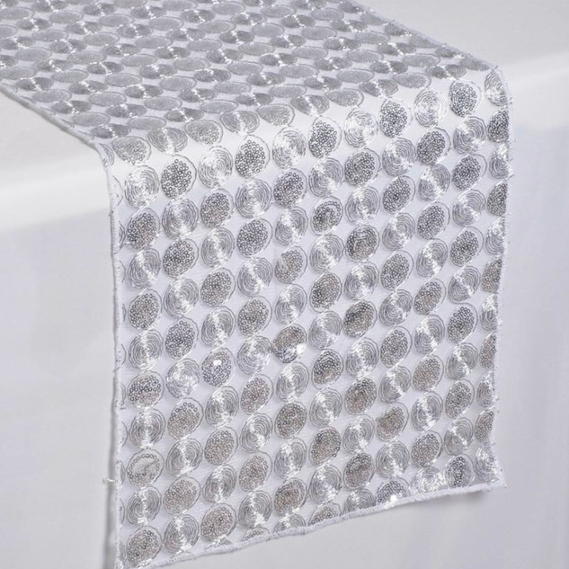 Upscale Sequin Runner  Silver