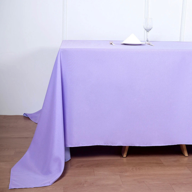 Polyester Rectangle Tablecloth Lavender