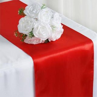 Satin Table Runner  Red
