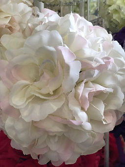 Flower Kissing Ball Pale Pink & White 5_