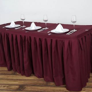 Polyester Table Skirt Burgundy