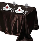 Satin Rectangle Tablecloth Chocolate