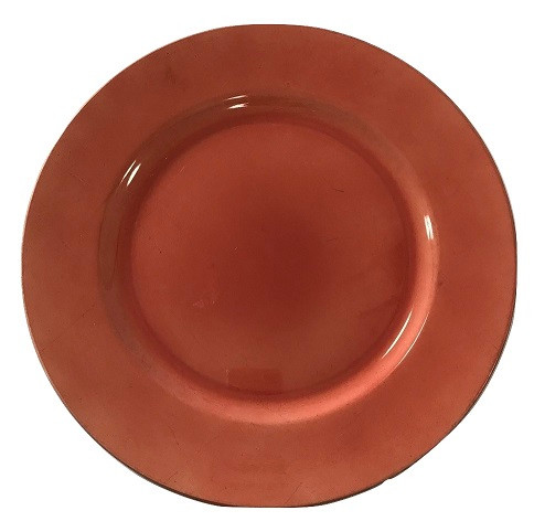"""Acrylic Coral Charger Plate 13"""""""