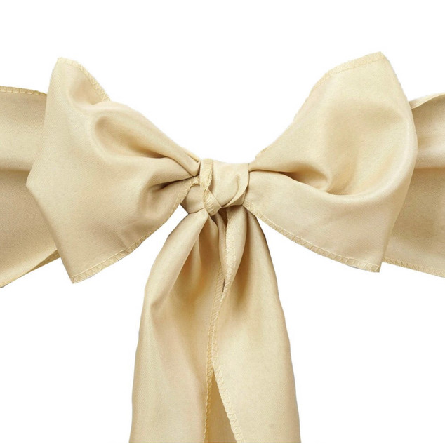 Polyester Chair Sash Beige