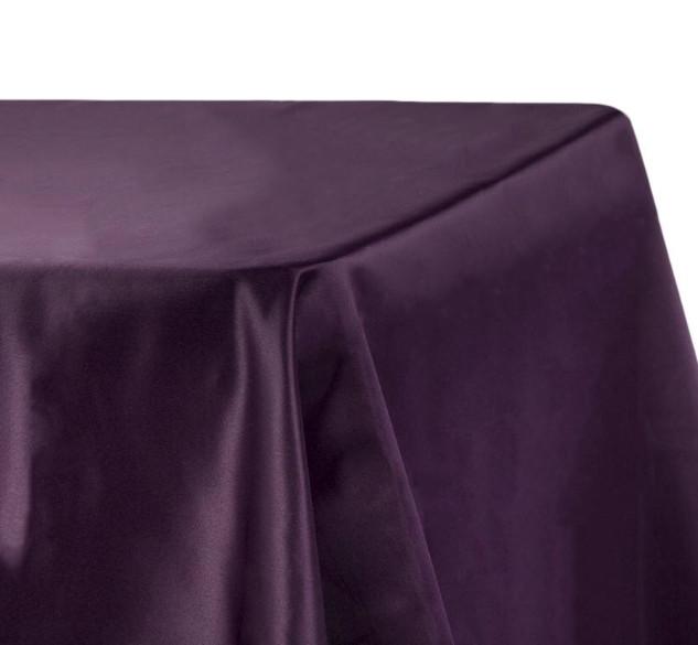 Lamour Satin Rectangle Tablecloth Plum