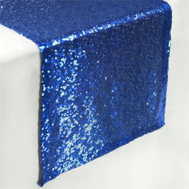 Sequin Table Runner  Royal Blue