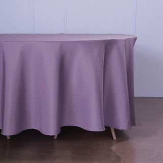 Polyester Round Tablecloth Amethyst