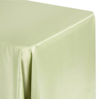 90x156 Lamour Satin Tablecloth Silver Sage