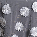 72_ Fiores & Lace Overlay White
