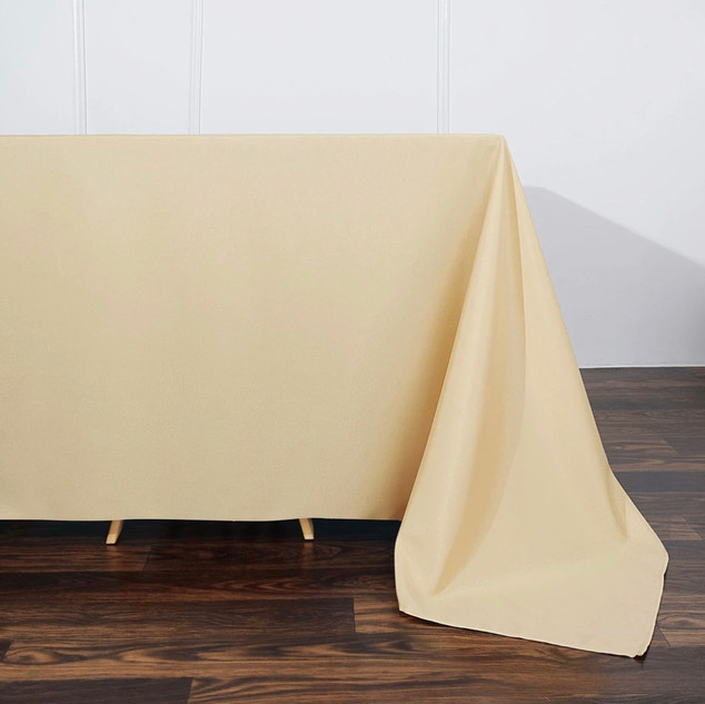 Polyester Rectangle Tablecloth Champagne