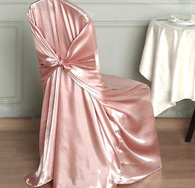 Universal Satin Chair Cover Dusty Rose