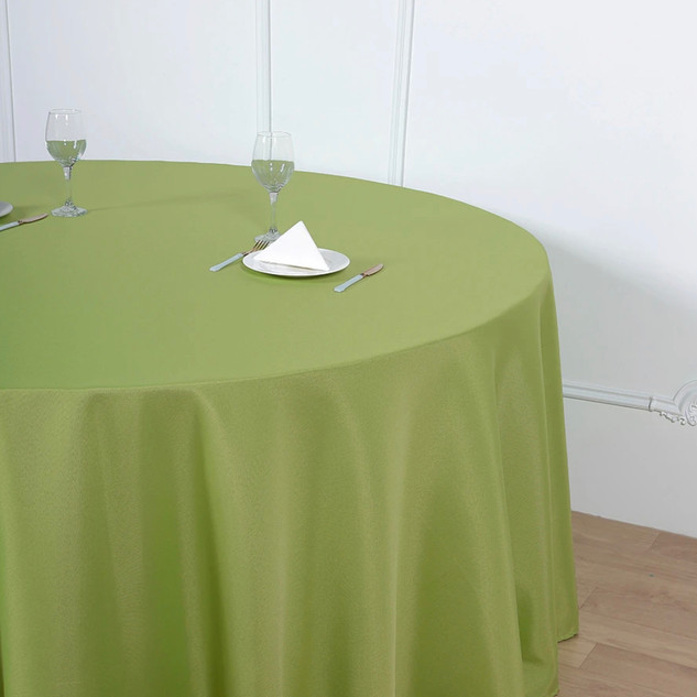 Polyester Round Tablecloth Apple Green
