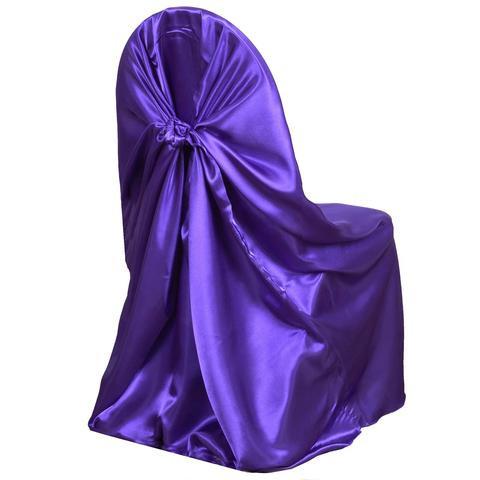 Universal Satin Chair Cover Purple