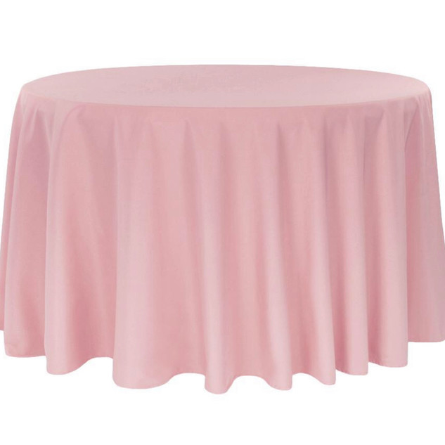 Polyester Round Tablecloth Dusty Rose