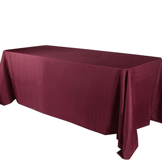 90x156 inch Polyester  Tablecloth Burgundy