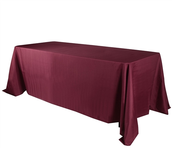 Polyester Rectangle Tablecloth Burgundy