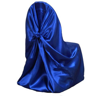 Universal Satin Chair Cover Royal Blue