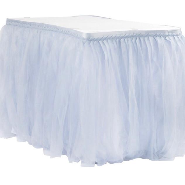 Tulle Table Skirt Dusty Blue