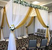 Mandap Canopy White & Gold