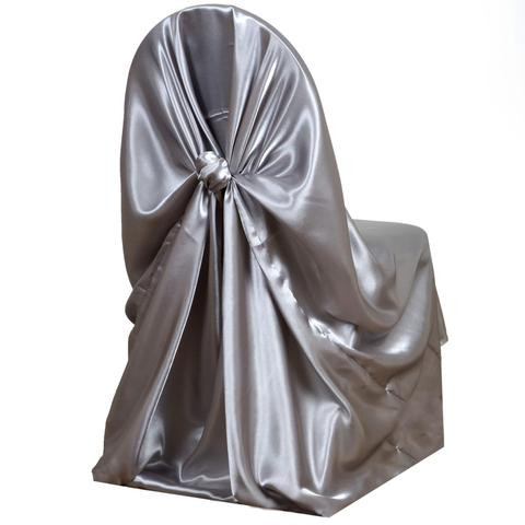 Universal Satin Chair Cover Silver