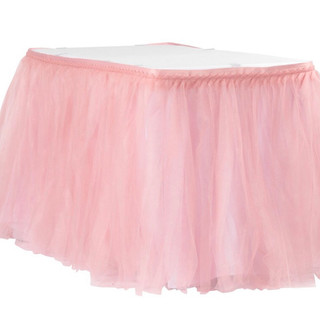 Tulle Table Skirt Dusty Rose
