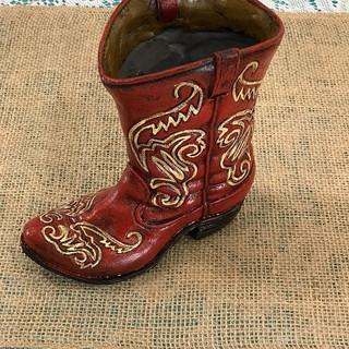 Red Cowboy Boot - Ceramic Vase