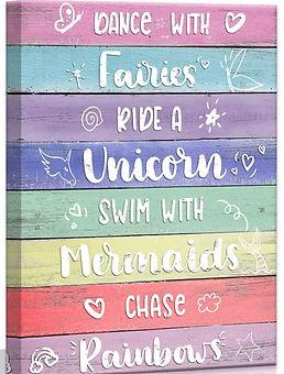 Fairy Tale Sign Pastel Rainbow