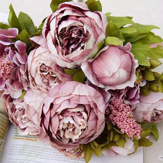 Peony Bunch Antique Rose
