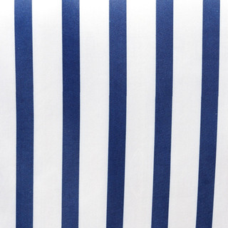 Striped Satin Runner Navy & White