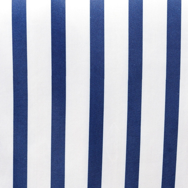 Striped Satin Runner Navy & White