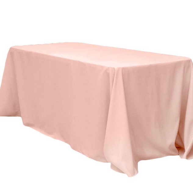 Polyester Rectangle Tablecloth Blush