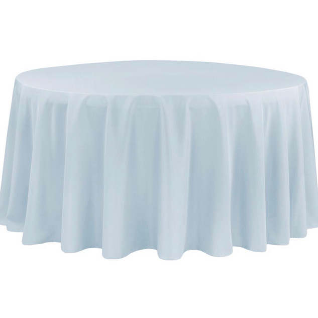Polyester Round Tablecloth Dusty Blue