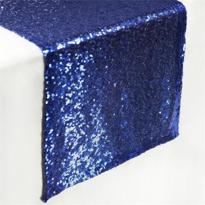 Sequin Table Runner  Navy