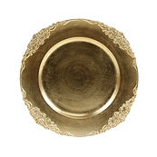 Flower Stud Acrylic Gold Charger Plate 1