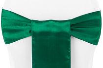 Emerald Green Satin Chair Sash.jpg