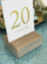 Table Number Holder - Wooden Block